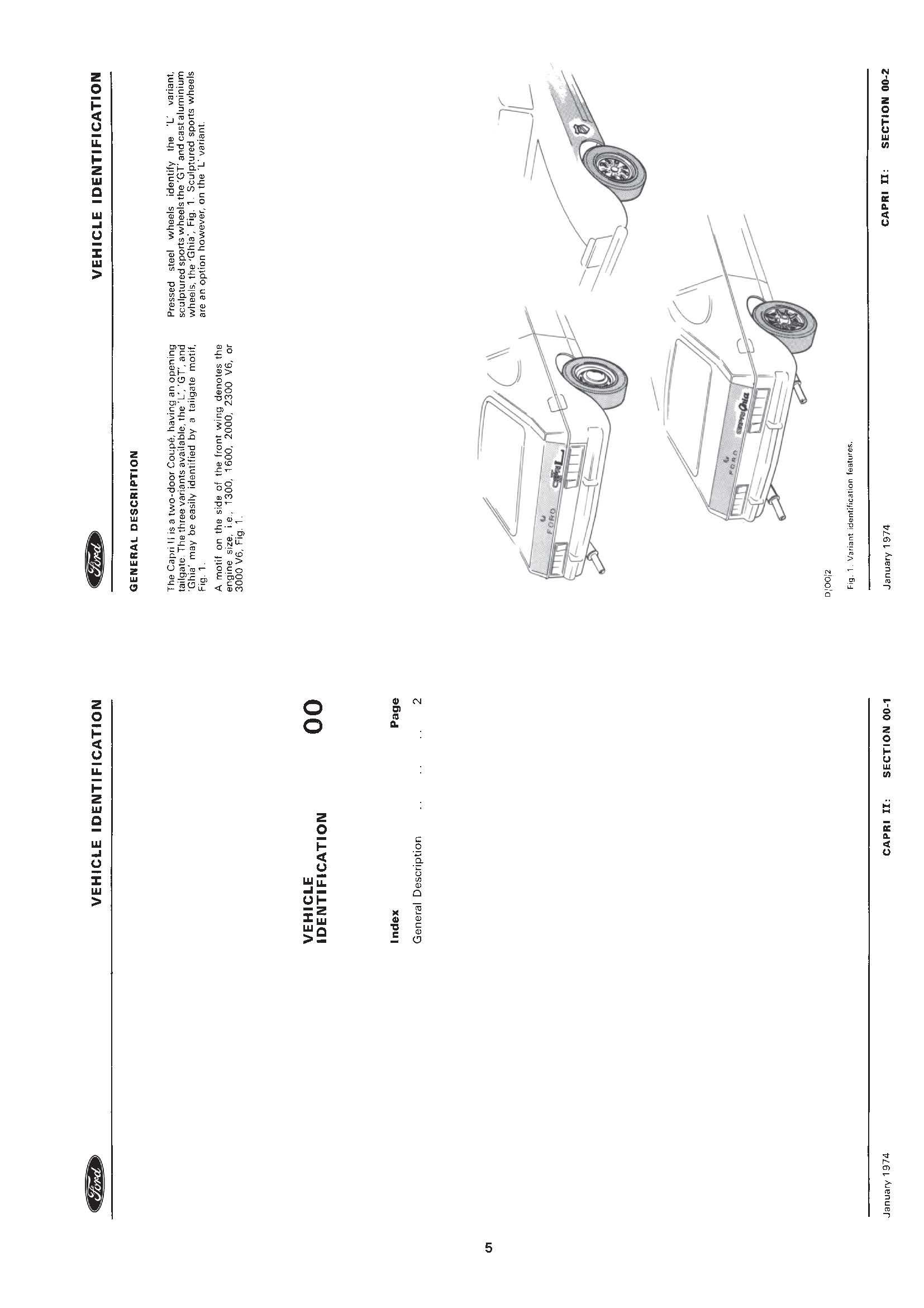 Ford Capri Workshop Manual 1974-1987
