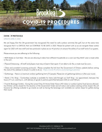 2021 - Covid-19 Procedures (1)