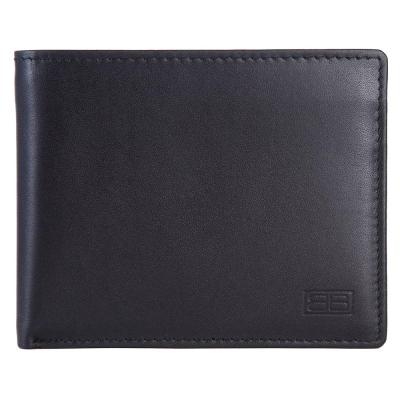 RFID Blocking Bifold Genuine Leather Wallet For Men With Removable ID Windows | Black