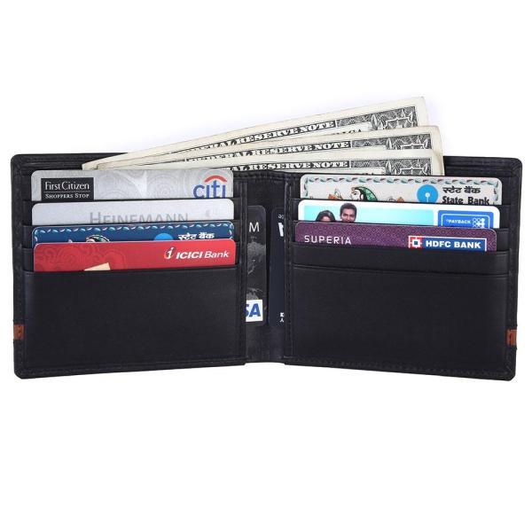 RFID Blocking Bifold Genuine Leather Slim Wallet For Men | Black
