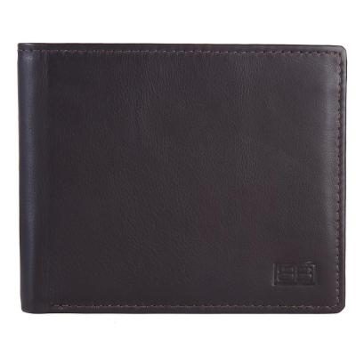 RFID Blocking Bifold Genuine Leather Slim Wallet For Men With ID Window | Dark Brown