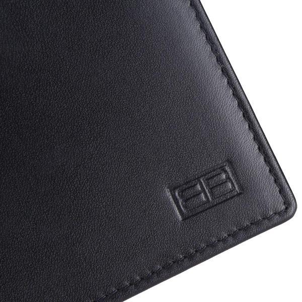 RFID Blocking Bifold Genuine Leather Slim Leather Wallet For Men | Black