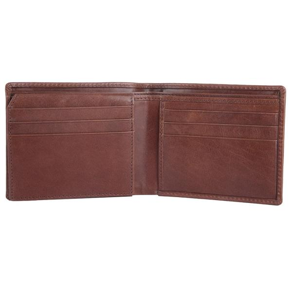 RFID Blocking Bifold Genuine Leather Wallet For Men With Coin Pocket And ID Window | Brown