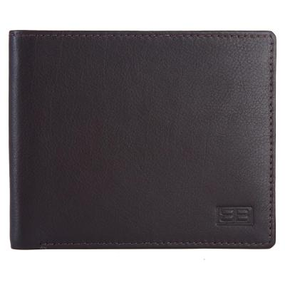 RFID Blocking Bifold Genuine Leather Slim Wallet For Men | Dark Brown