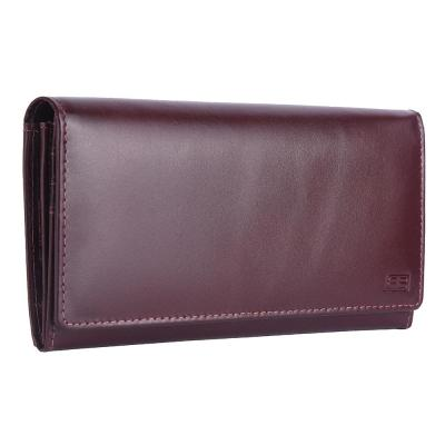 RFID Blocking Genuine Leather Clutch Wallet for Women | Maroon