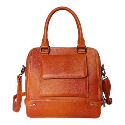 Genuine Leather Hand Bag For Women | Cherry Tan