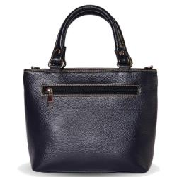 Genuine Leather Hand Bag For Women | Navy Blue