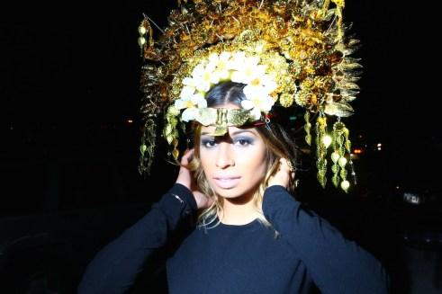jasmine soldano plays at the brooklyn museum friday. headdress (kind of) optional.