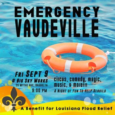 emergency vaudeville big sky works
