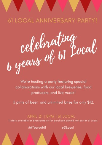61 local anniversary party