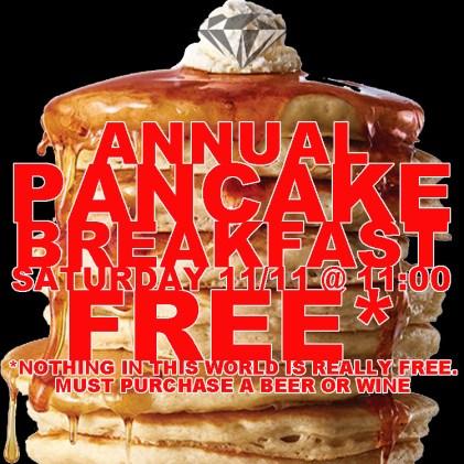 annual pancake breakfast at the diamond