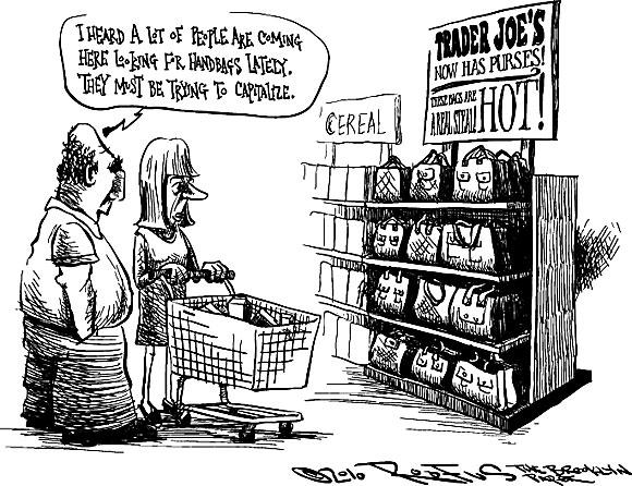 Roofus: Maybe Trader Joe's should start selling handbags