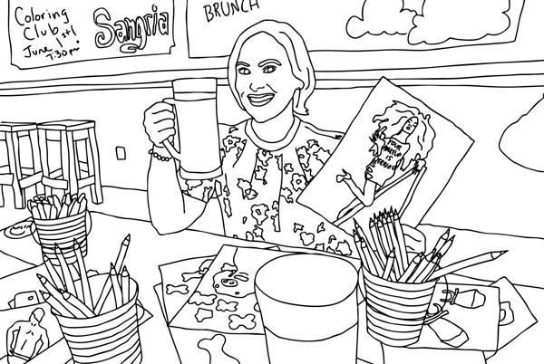 Local color: Park Slope artist hosts adult coloring club