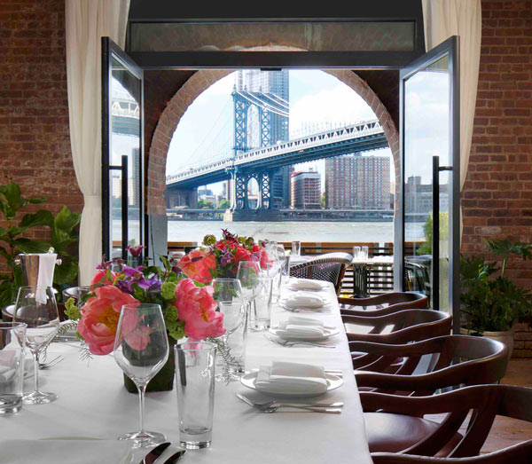 Food on view Cecconis opens on Dumbo waterfront