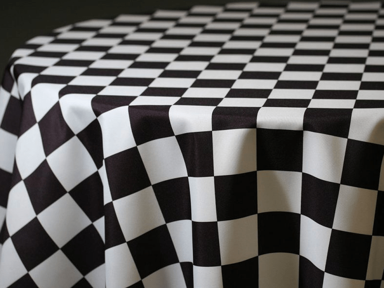 Black  White Checkered Tablecloth  Brooklyn Party Rental