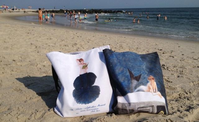 bags on the beach
