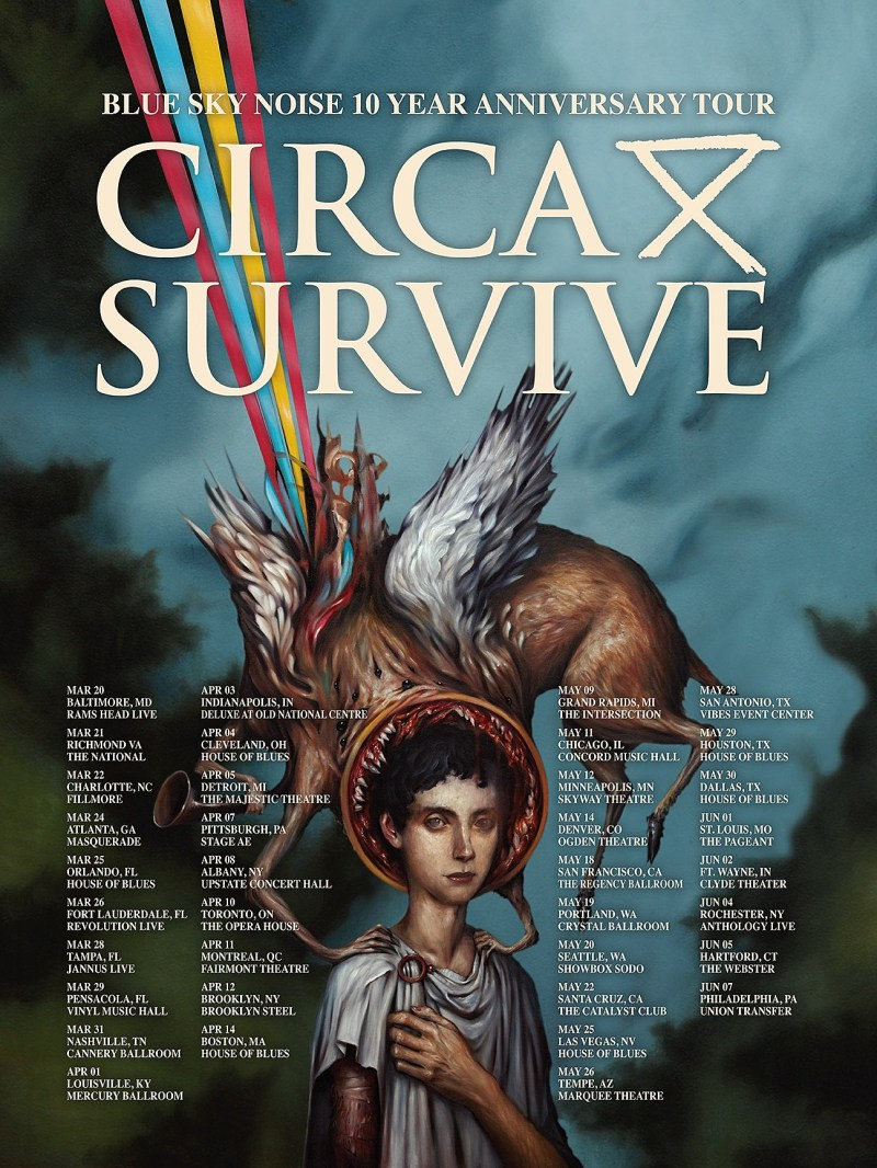 Circa Survive Blue Sky Noise tour