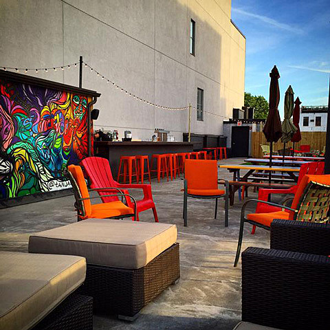 the living room with sky bar prices s rooftop and lounge now open