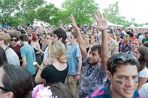 Governors Ball day 3 in pics part 2 Kanye West Bloc Party Beirut Foals Freddie Gibbs  more