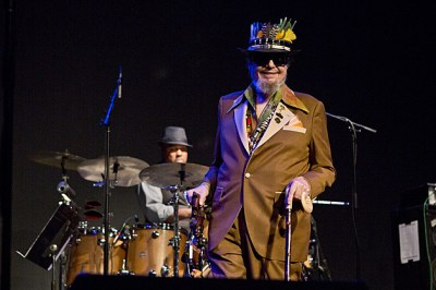 Dr. John on tour, played Long Island, playing a free ...