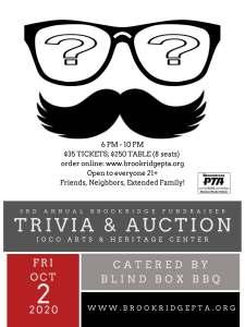 3rd Annual Brookridge Trivia & Auction Fundraiser @ Johnson County Arts & Heritage Center