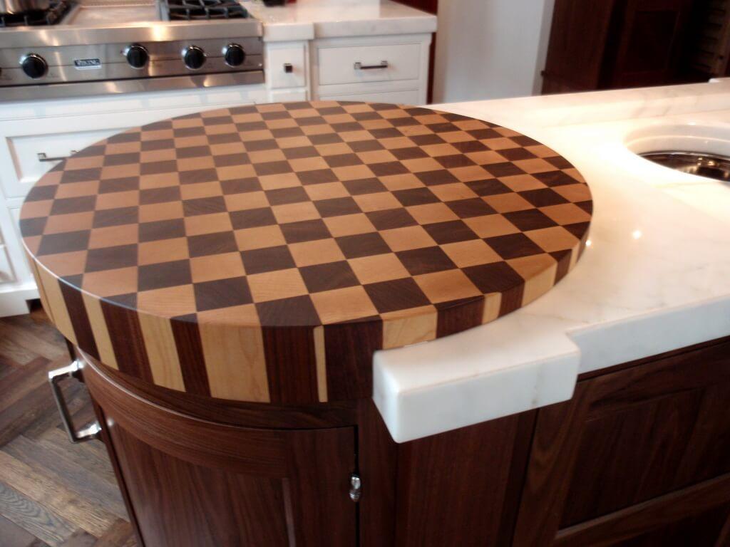 End Grain Wood Countertops  Brooks Custom