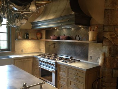 Zinc Countertop Gallery - Brooks Custom