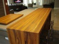 Standard Plank Wood Countertops by Brooks Custom