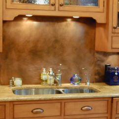 Metal Kitchen Backsplash Custom Cabinets Copper Countertops Hoods Sinks Ranges Panels By Brooks