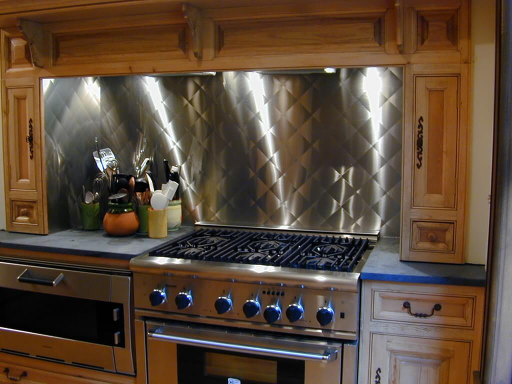 metal kitchen backsplash lowes appliances stainless steel backsplashes brooks custom