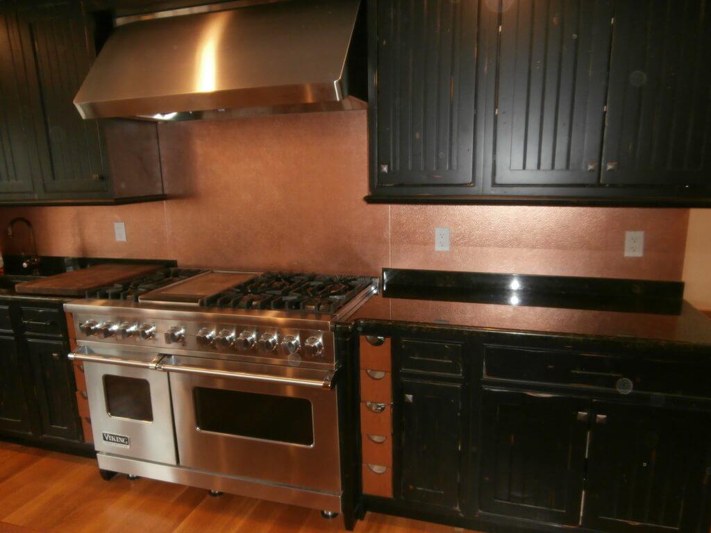 metal kitchen backsplash ikea rugs copper backsplashes brooks custom