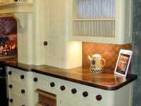 Copper Countertops White Cabinets