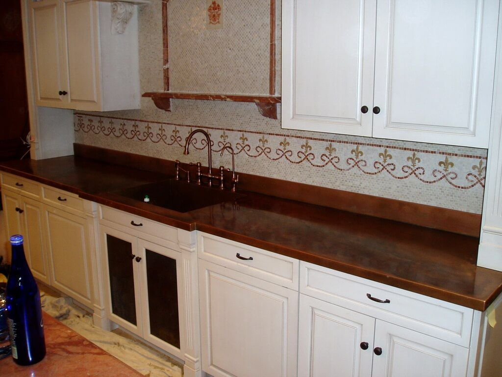 copper kitchen countertops bar table hoods sinks ranges panels by brooks