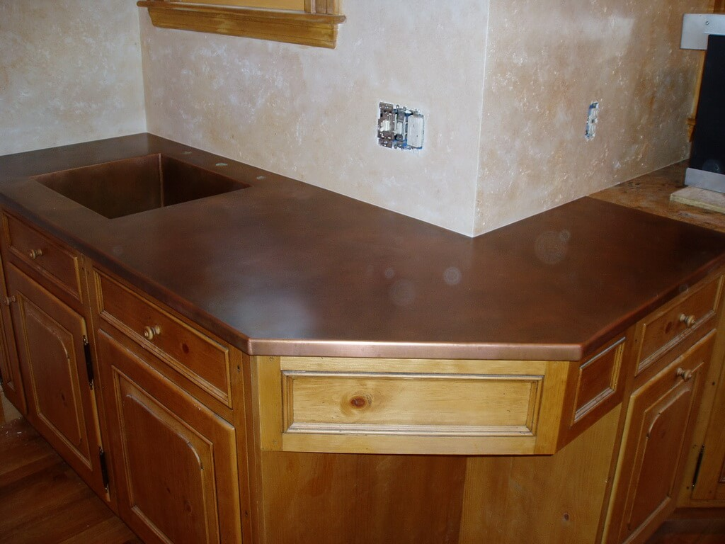 kitchen island tops valances curtains copper countertops, hoods, sinks, ranges, panels by brooks ...