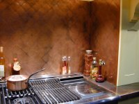 Copper Backsplash. Good Copper Backsplash With Copper ...