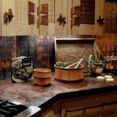 Copper Kitchen Countertops Antique Red Cabinets Brooks Custom