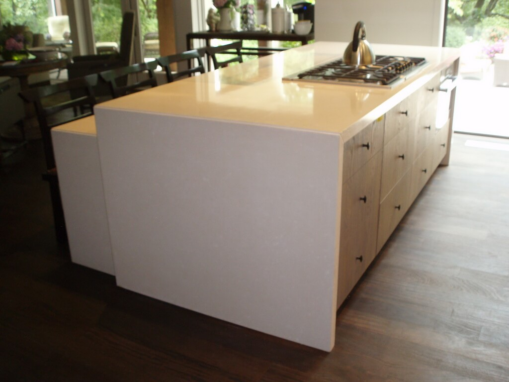 zinc top kitchen island large sink dimensions brooks custom countertop gallery