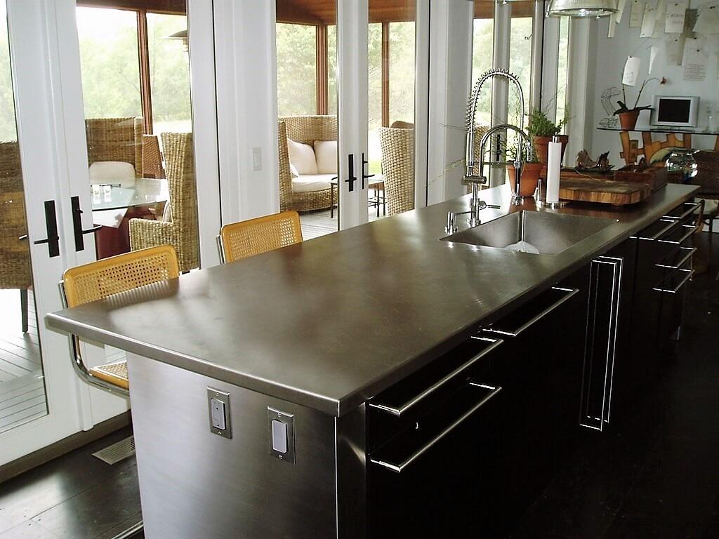 kitchen island countertops undermount sink sizes stainless steel countertop brooks custom