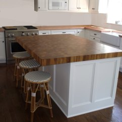 How To Build A Kitchen Island With Breakfast Bar Sink Covers End Grain Wood Countertops By Brooks Custom