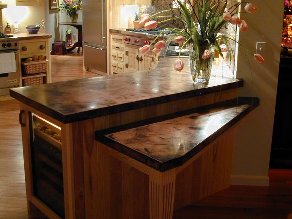 copper kitchen countertops driftwood cabinets diy offapendulum