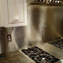 Metal Kitchen Backsplash Kid Craft Stainless Steel Backsplashes Brooks Custom