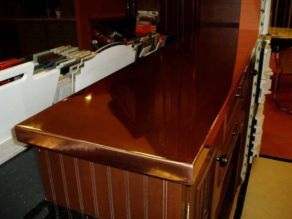 copper kitchen countertops racks ikea brooks custom
