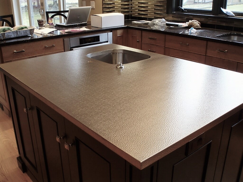 Stainless Steel Countertops  Brooks Custom