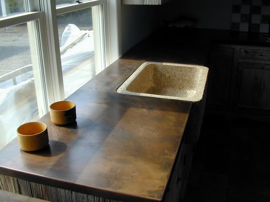 countertops for kitchens green kitchen accessories copper - brooks custom