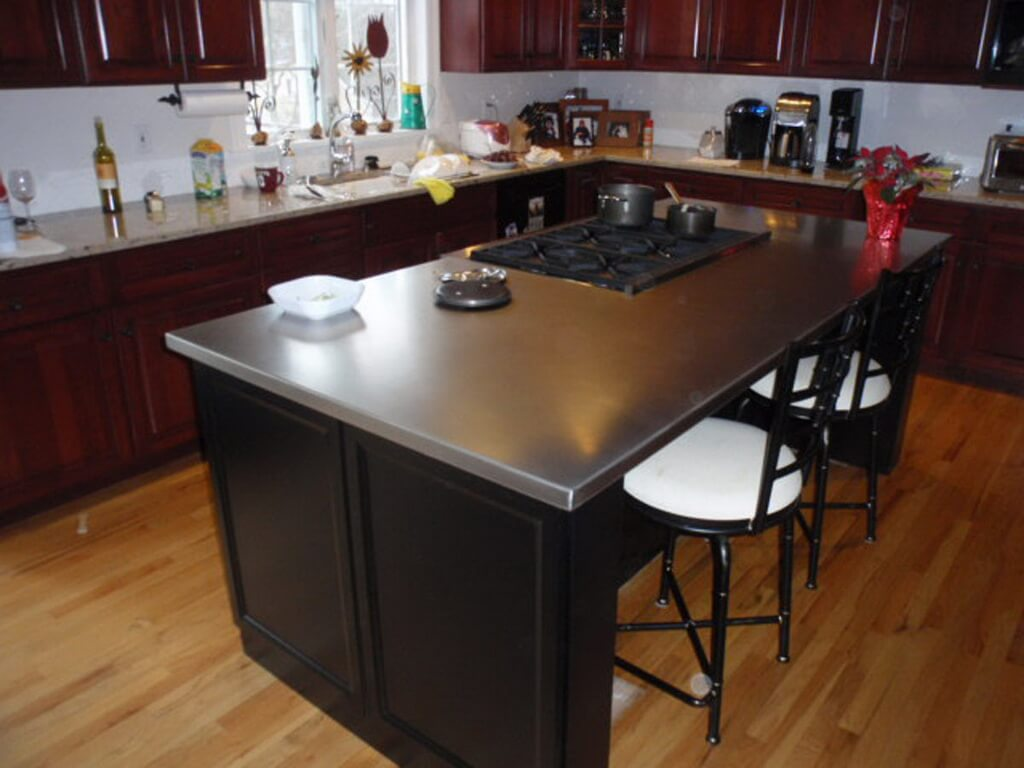 backsplashes kitchen standard sink size zinc countertop gallery - brooks custom