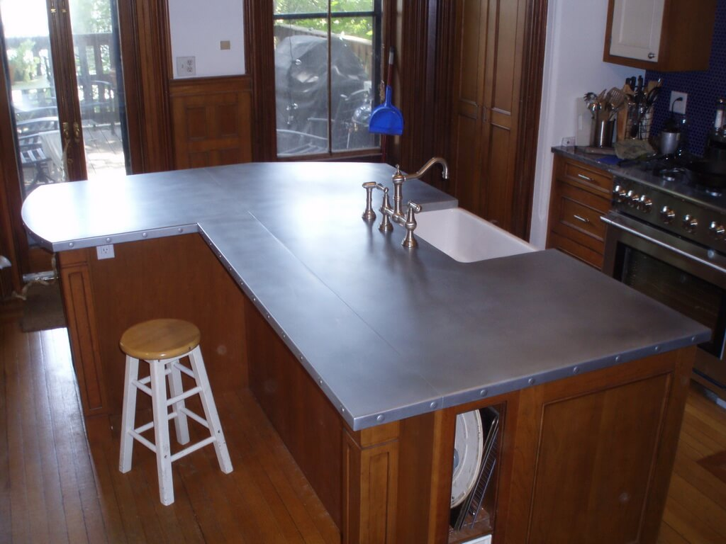 kitchen bars eco friendly cabinets zinc countertops - brooks custom