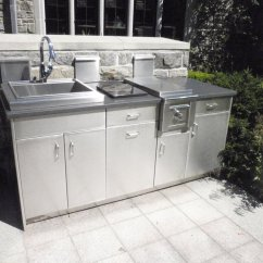 Outdoor Kitchen Stainless Steel Cabinet Doors Farmhouse Sink For Sale Countertops Brooks Custom