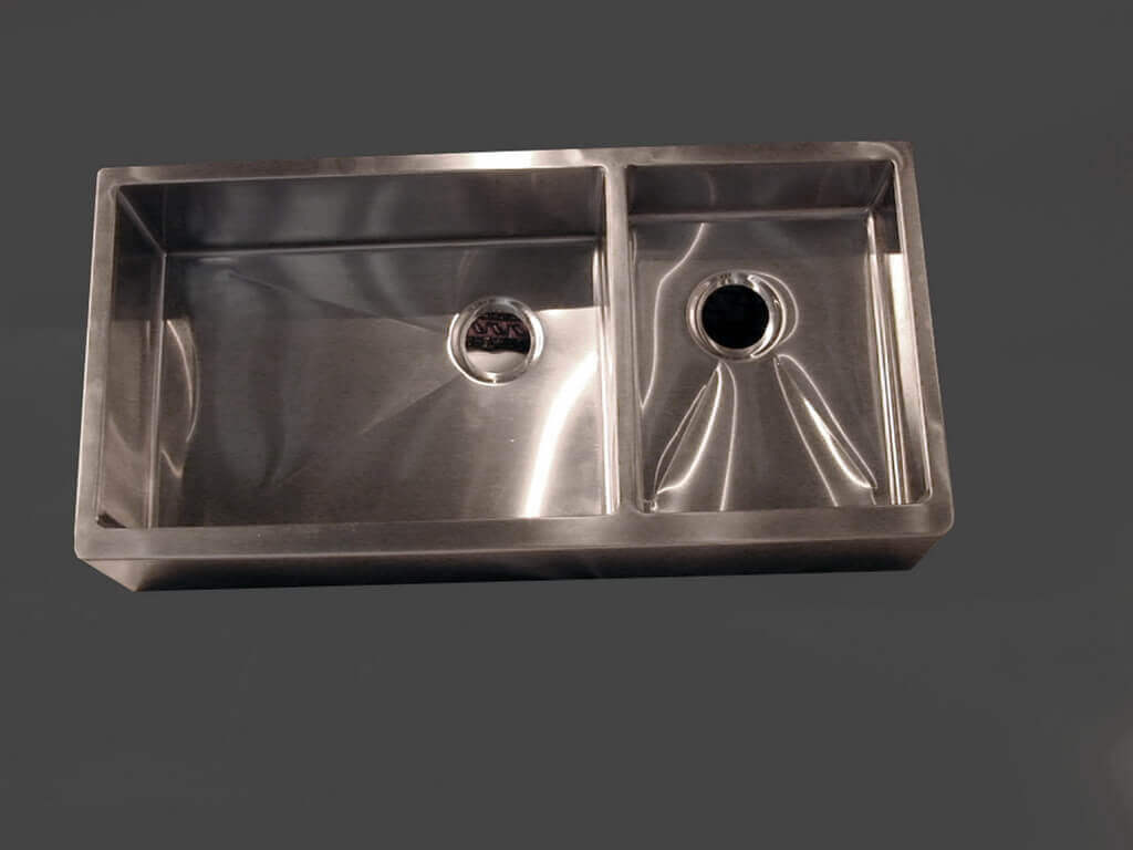 stainless steel undermount kitchen sinks ceramic tile design custom sink portfolio - brooks