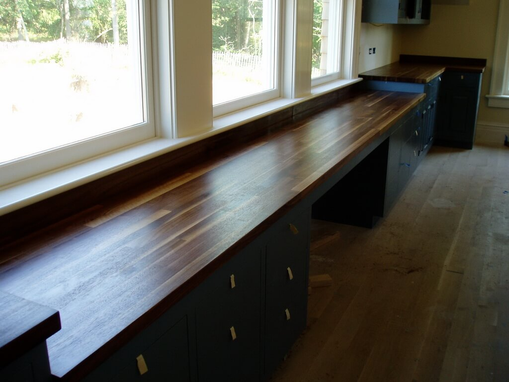 Edge Grain Wood Countertops and Butcher Blocks  Brooks Custom