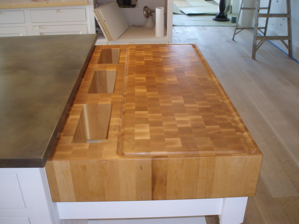End Grain Wood Countertops by Brooks Custom